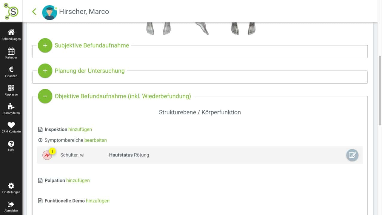 Befundbogen-physiotherapy-smarttherapy